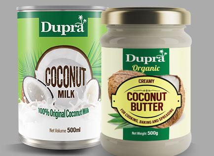 Coconut Milk & Butter Packaging Label Design