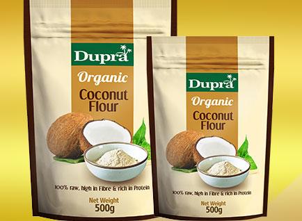 Dupra Coconut Flour Packaging Design