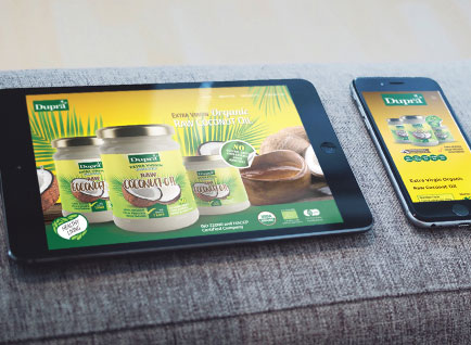 Dupra Coconut Products Website Designwww.dupraoil.com