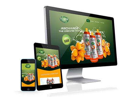 Elixer Hydrate Website Design