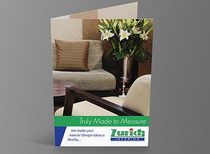 Zurich Furniture Brochure Design