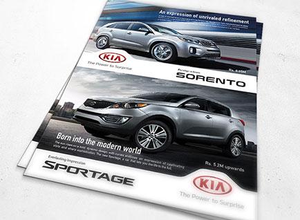 KIA motors Leaflet Design