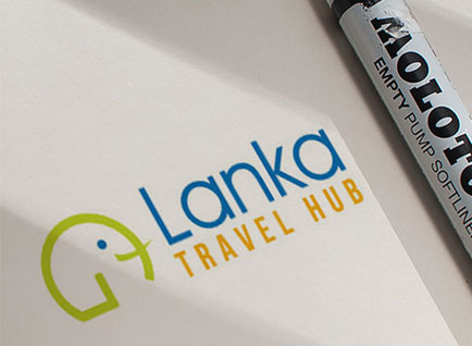Lanka Travel Hub Logo Design