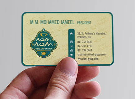 NomNom Restaurant Business Card Design