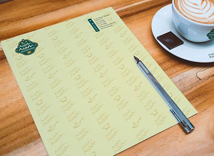 NomNom Restaurant Letterhead Design