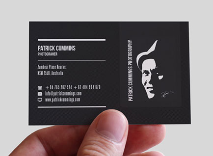 Cross border institute business card design designzhub creative patrick cummings photography business card design reheart Images
