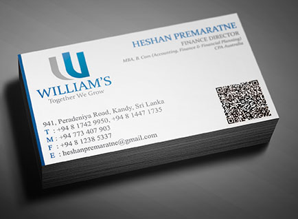 Williams Holding Business Card Design