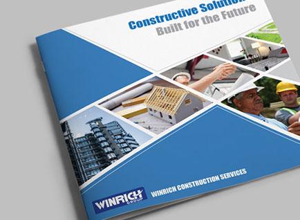 Winrich Constructions Company Profile Design