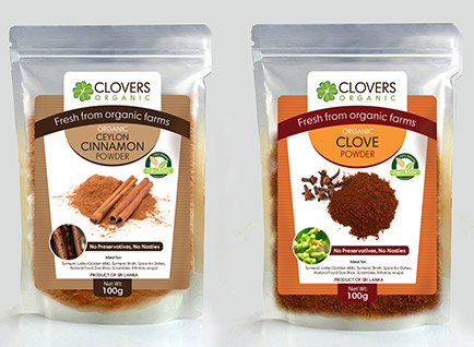 Clovers Organic Packaging Label Design