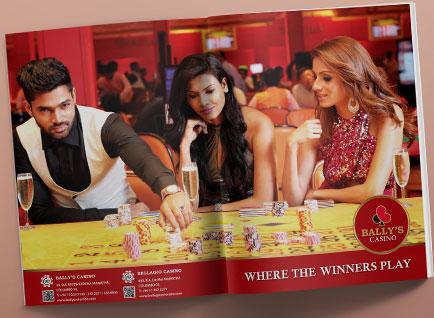 Ballys Magazine Advertisment Design