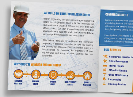 Construction Company Brochure Design