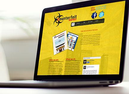 Counterfeit Graphics Website Design