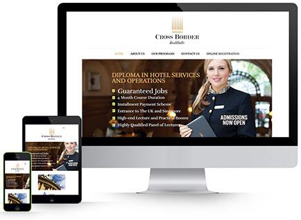 Cross Border Institute Website Designwww.crossborderedu.lk