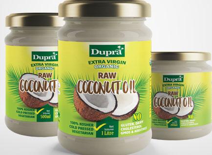 Pura Virgin Coconut Oil Label Design