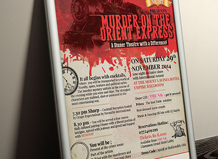 Murder on the Orient Express Event Poster Design