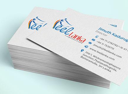 Feel Lanka Travels Business Card Design