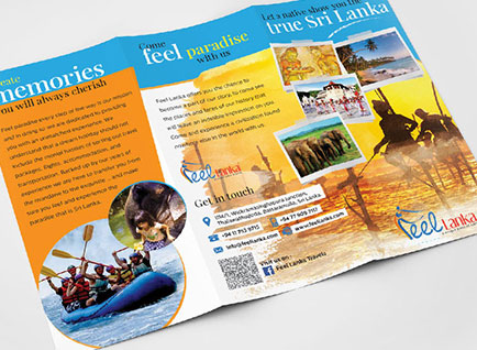 Feel Lanka Travels Brochure Design