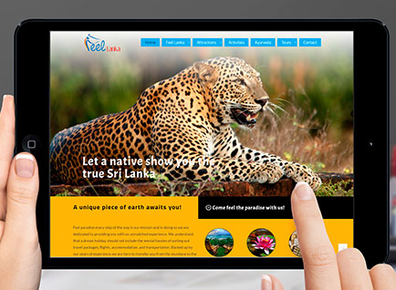 Feel Lanka Travels Website Designwww.feellanka.com