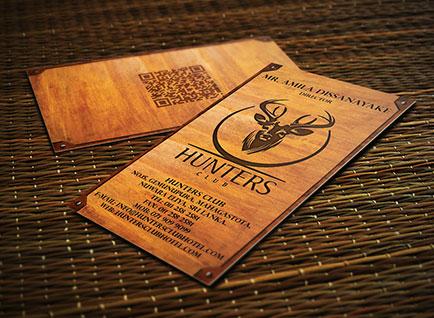 Hunters Club Hotel Business Card Design