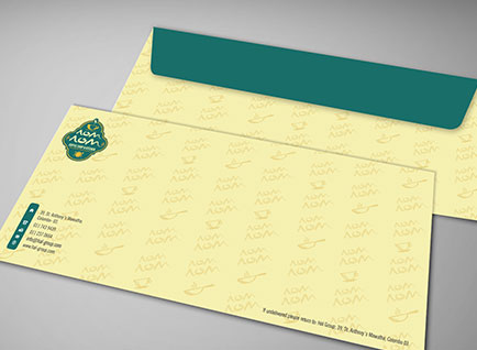 NomNom Restaurant Envelop Design