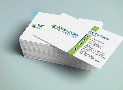 Suren Cooke Agencies Business Card Design