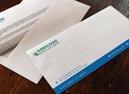 Suren Cooke Agencies Envelop Design
