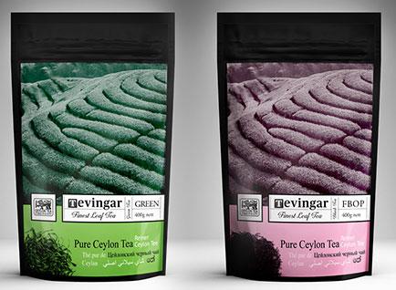 Tevingar Tea Foil Pouch Packaging Design