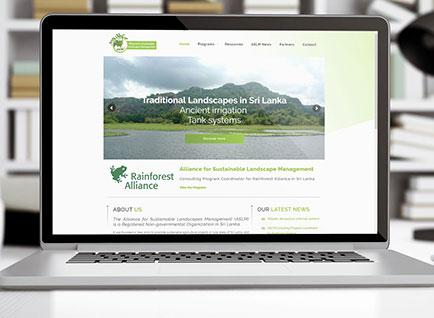 Alliance for Sustainable Landscape Management Website Designwww.aslm.lk