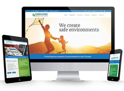 Suren Cooke Agencies Corporate Website Designwww.surencooke.com