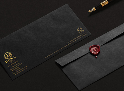Dona London Business Stationary Design