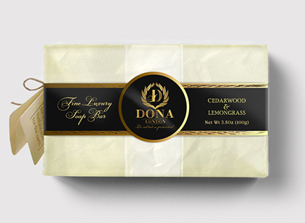 Dona London Luxury Soap Packaging Design