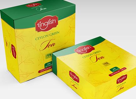 Tinglish Tea Bag Box Packaging Design