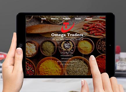 Omega Traders Website Designwww.omegatraders.lk